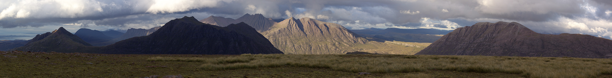 Evening light over An Teallach and Beinn Dearg Mhor